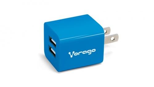Vorago Cargador para Pared AU-106, 5V, 2x USB 2.0, Azul