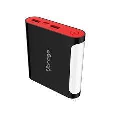 Cargador Portátil Vorago PowerBank 301, 12.000mAh, USB y Micro-USB, Negro/Rojo
