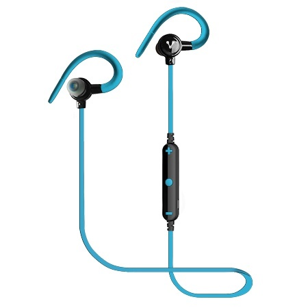 Vorago Audífonos Intrauriculares Deportivos ESB-300, Inalámbrico, Bluetooth, 60cm, Negro/Azul