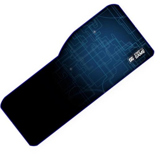 Mousepad Gamer Vorago MPG-300, 34.5 x 79.5cm, Grosor 5mm, Negro/Azul