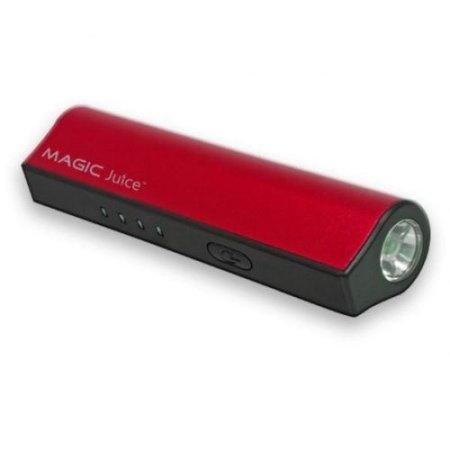 Cargador Portátil Vupoint  Power Bank Magic Juice, 2800mAh, Negro/Rojo