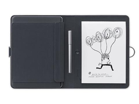 Wacom Bamboo Spark con Funda para iPad Air 2 o Tabletas 9.7'', Bluetooth, Gris