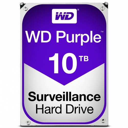 Disco Duro para Videovigilancia Western Digital Purple 3.5'', 10TB, SATA III, 6 Gbit/s, 256MB Cache