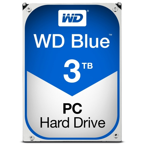 Disco Duro Interno Western Digital WD Blue 3.5'', 3TB, SATA III, 6 Gbit/s, 5400RPM, 64MB