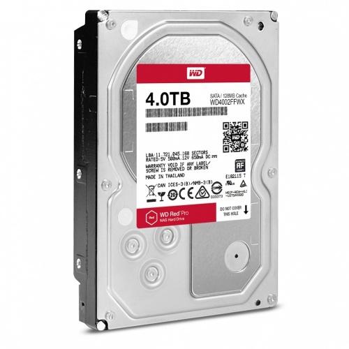 Disco Duro Interno Western Digital WD Red Pro 3.5'', 4TB, SATA III, 6 Gbit/s, 7200RPM, 128MB Cache - para NAS de 1 a 16 Bahías