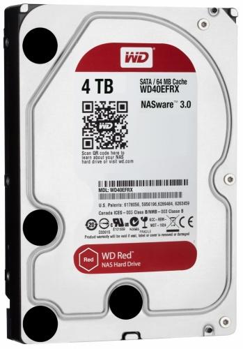 Disco Duro Interno Western Digital WD Red 3.5'', 4TB, SATA III, 6 Gbit/s, 64MB Cache - para NAS de 1 a 8 Bahías