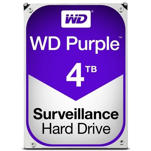 Disco Duro para Videovigilancia Western Digital Purple, 4TB, 6 Gbit/s, SATA, 64MB Cache