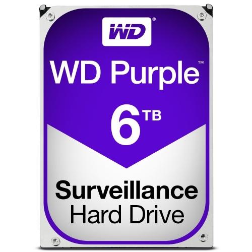 "Disco Duro para Videovigilancia Western Digital WD60PURX 3.5"", 6TB, SATA III, 6 Gbit/s, 64MB Cache"