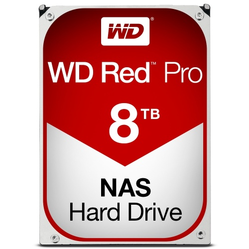 Disco Duro Interno Western Digital WD Red Pro 3.5'', 8TB, SATA III, 6 Gbit/s, 7200RPM, 128MB Cache - para NAS de 1 a 16 Bahías