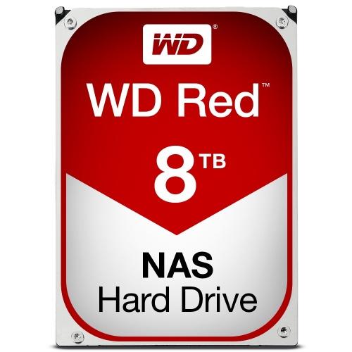 Disco Duro para NAS Western Digital WD Red 3.5'' de 1 a 8 Bahías, 8TB, SATA III, 6 Gbit/s, 5400RPM, 256MB Cache