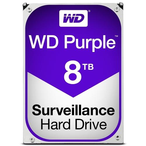 Disco Duro para Videovigilancia Western Digital Purple 3.5'', 8TB, SATA III, 6 Gbit/s, 128MB Cache - para DVR de 1 a 8 Bahías