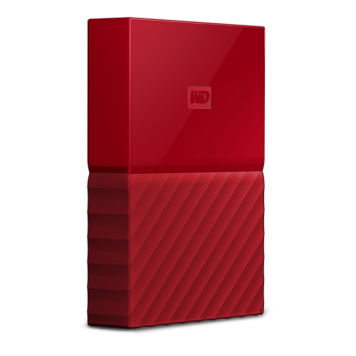 Disco Duro Externo Western Digital My Passport, 3TB, USB 3.0 Type A, Rojo