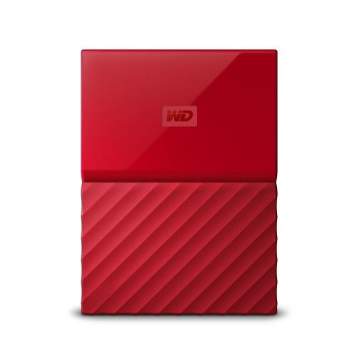 Disco Duro Externo Western Digital My Passport 2.5'', 1TB, USB 3.0, Rojo