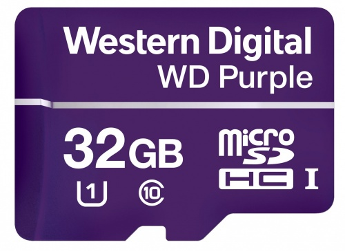 Memoria Flash Western Digital WD Purple, 32GB microSDHC, Clase 10