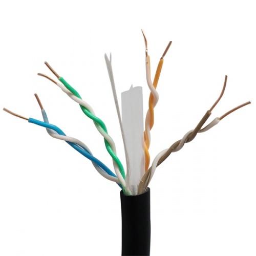 X-Case Bobina de Cable Cat5e UTP, 100 Metros, Negro