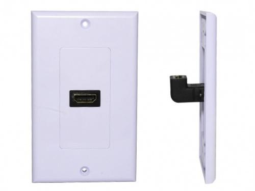 X-Case Placa de Pared de 1 Puerto HDMI, Blanco