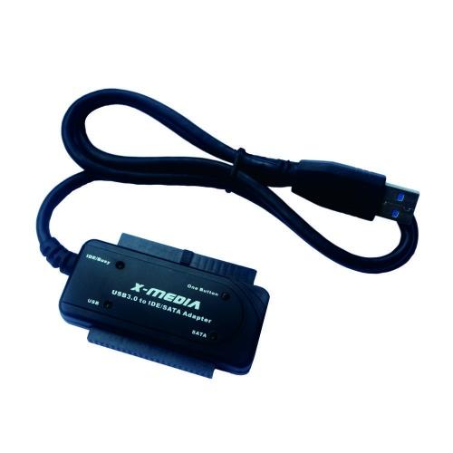X-Media Adaptador USB 3.0 Macho - IDE/SATA, 5 Gbit/s, Negro