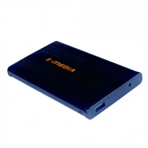 "X-Media Gabinete de Disco Duro XM-EN2200U3, 2.5"", SATA, USB 3.0, Negro/Azul"
