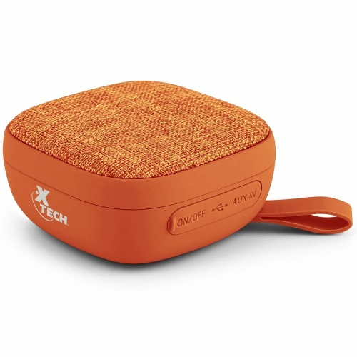 Xtech Bocina Portátil XTS-600, Bluetooth, Inalámbrico, 3W RMS, USB, Naranja