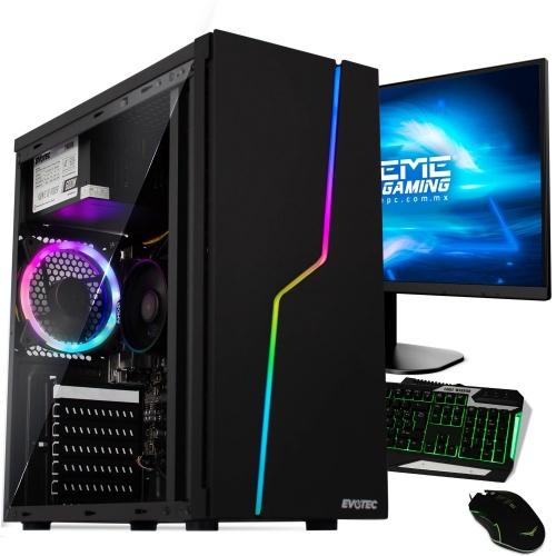 Computadora Gamer Xtreme PC Gamer CM-00388, AMD Ryzen 3 3200G 3.60GHz, 8GB, 240GB SSD, FreeDOS - incluye Monitor, Teclado y Mouse