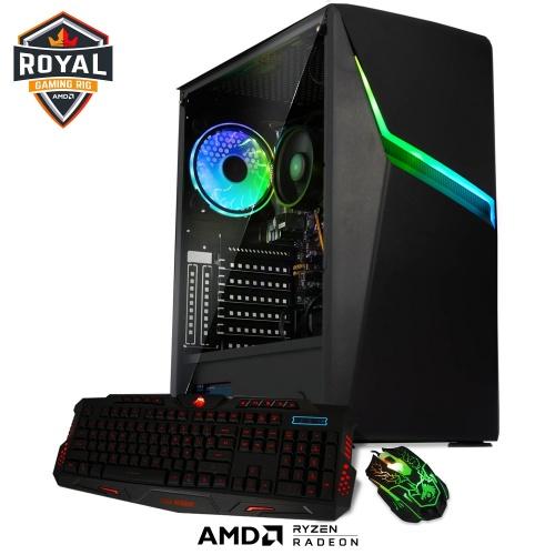 Computadora Gamer Xtreme PC Gaming CM-91000, AMD Ryzen 5 3400G 3.70GHz, 16GB, 480GB SSD, Radeon Vega 11, FreeDOS - incluye Teclado y Mouse