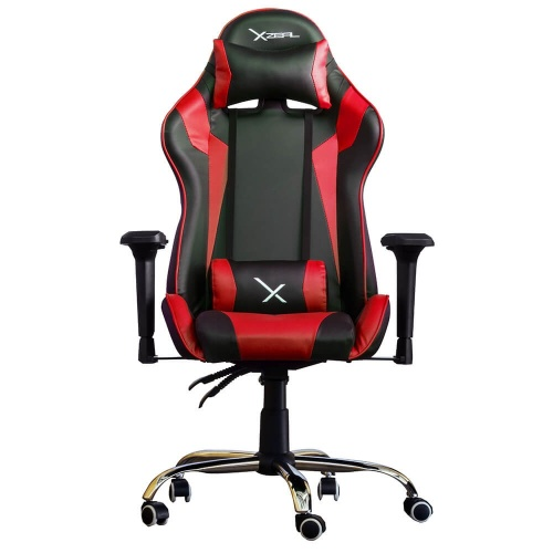 XZEAL Silla Gamer XZ10, hasta 115KG, Negro/Rojo
