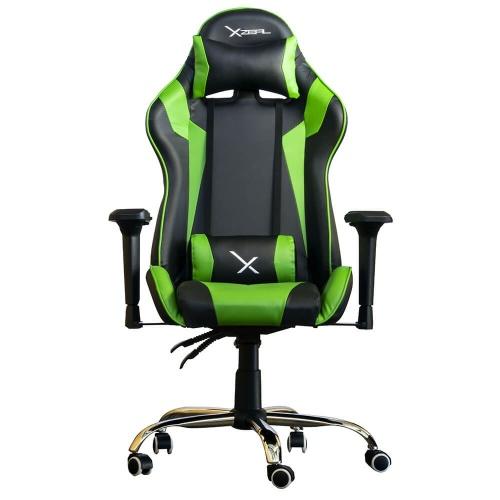 XZEAL Silla Gamer XZ10, hasta 115KG, Negro/Verde