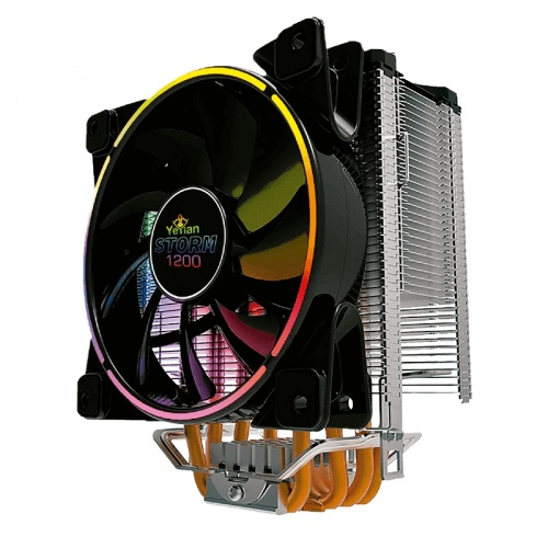 Disipador CPU Yeyian Storm 1200 RGB, 120mm, 1000 - 1800RPM, Negro