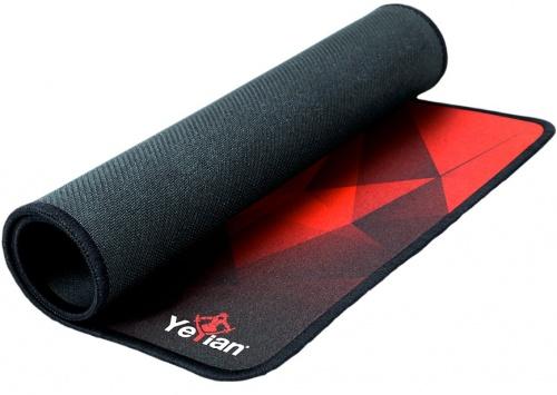 Mousepad Yeyian Krieg 1050, 50 x 36cm, 3mm, Negro/Rojo