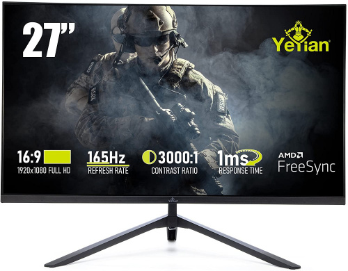 Monitor Gamer Yeyian Odraz Serie 2000 LED 27'', Full HD, Widescreen, FreeSync, HDMI, Bocinas Integradas (2x 4 W), Negro