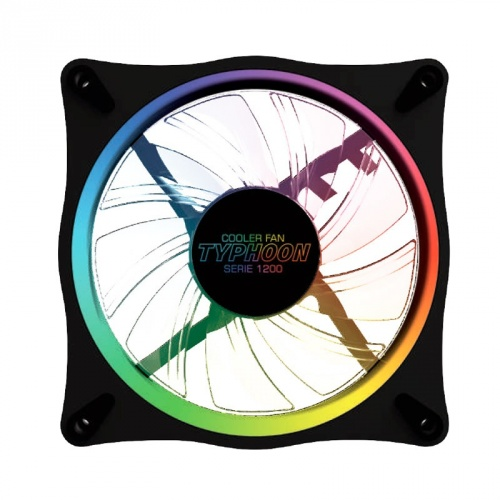 Ventilador Yeyian TYPHOON1200 RGB, 120mm, 1090 RPM - 1110 RPM, Negro