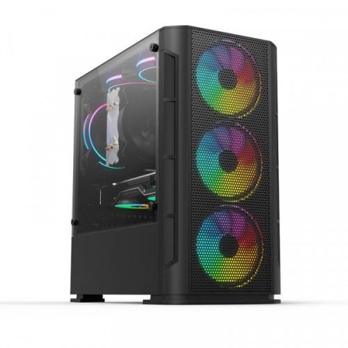 Gabinete Yeyian Haizen 2500 con Ventana, Midi-Tower, Micro ATX/Mini-ATX, USB 3.0, sin Fuente, Negro