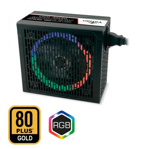 Fuente de Poder Yeyian Raiden 80 PLUS Gold, ATX, 120mm, 850W