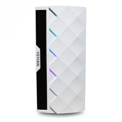 Gabinete Yeyian ABYSS 2500 con Ventana RGB, Midi-Tower, ATX/EATX/ITX/Micro ATX, USB 3.0, sin Fuente, Negro/Blanco