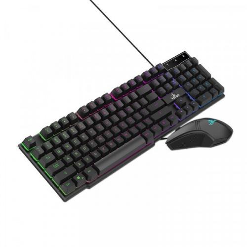 Kit Gamer de Teclado y Mouse Yeyian Phoenix 2000 RGB, Alámbrico, USB, Negro (Español)