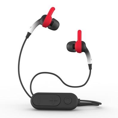 Zagg Audífonos Intrauriculares Deportivos con Micrófono iFrogz Sound Hub Plugz, Inalámbrico, Bluetooth, Blanco/Negro