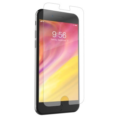 Zagg Protector de Pantalla InvisibleShield para iPhone 8 Plus, Transparente