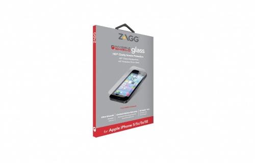 Zagg Protector de Pantalla InvisibleShield Glass para iPhone 5/5s/5c/SE, Transparente