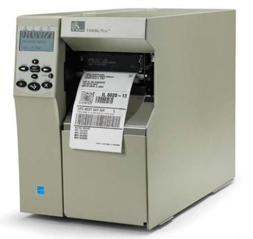 Zebra 105SLPlus, Impresora de Etiquetas, Transferencia Térmica, 300 x 300DPI, Gris