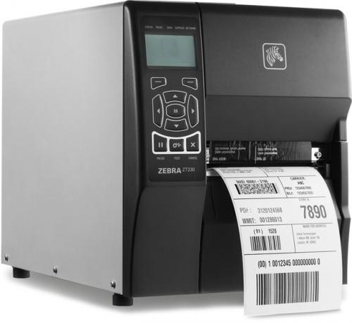 Zebra ZT230 TT TD, Impresora de Etiquetas, Transferencia Térmica, Serial, Paralelo, USB, 203 x 203DPI, Negro
