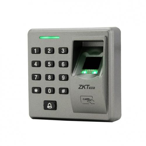 ZKTeco Control de Acceso y Asistencia Biométrico FR1300 con Lector de Tarjetas EM 125kHz, Gris