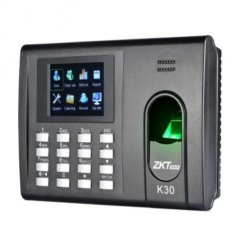 ZKTeco Control de Acceso y Asistencia Biométrico K30, 1000 Usuarios, USB 2.0, Negro