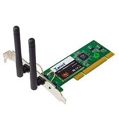 Zonet Tarjeta de Red PCI ZEW1642S, Inalámbrico, Ethernet, 300 Mbit/s, Antenas de 2.2dBi
