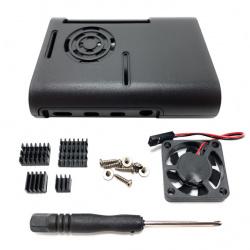 330Ohms Carcasa de Plástico para Raspberry Pi 4, con Ventilador y Disipadores de Calor