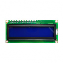330ohms Pantalla LCD para Placas de Desarrollo IC-11004 con Interfaz I2C, Fondo Azul