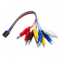 330Ohms Juego de Cables Caimán, 20cm, Multicolor, 10 Piezas