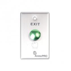 AccessPRO Botón de Salida APBRV, Alámbrico, Aluminio/Verde