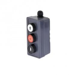 AccessPRO Botonera Triple de Uso Rudo XBS-SW-01, Alámbrico, Gris
