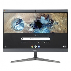 "Acer Chromebase CA24I2-3T All-in-One 23.8"", Intel Core i3-8130U 2.20GHz, 8GB, 128GB SSD, Chrome OS, Gris ― Teclado en Inglés"