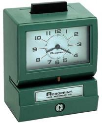 Acroprint Reloj Checador Mecánico Derecho 125QR4, Analógico, Verde